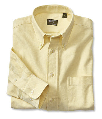 yellow oxford mens shirt made in the usa