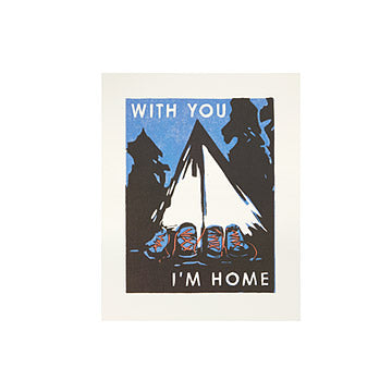 with you im home rustic romantic gift made in usa