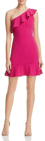 pink ruffle dress made in usa