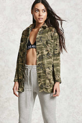 womens camouflage camo jacket made in usa