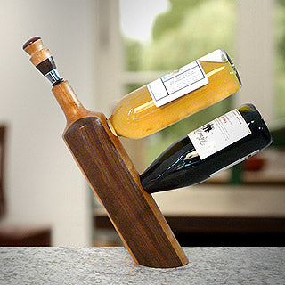 balancing wine bottle holder made in usa