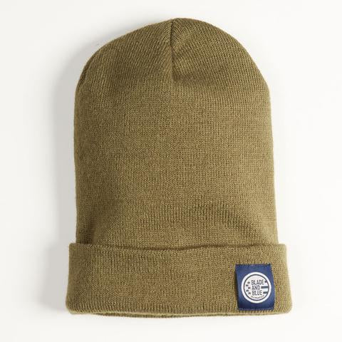 olive watch cap made in usa