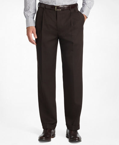 pleat front gabardine trousers made in the usa