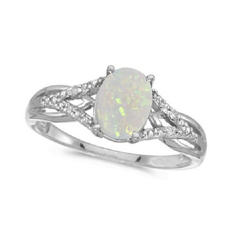 diamond and opal ring made in usa