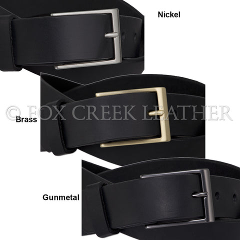leather belt black brown made in usa