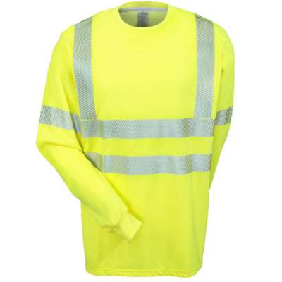 National Safety apparel NSA Fluorescent high visibility work shirt made in usa