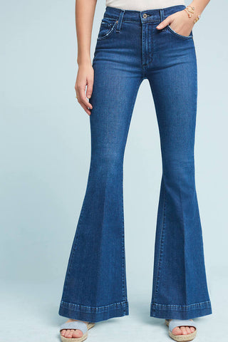 mid rise flare petite jeans made in the usa Cinnia Boutique