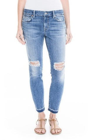 amber slouchy release distressed jeans made in the usa Cinnia Boutique