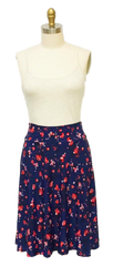 navy floral skirt made in usa