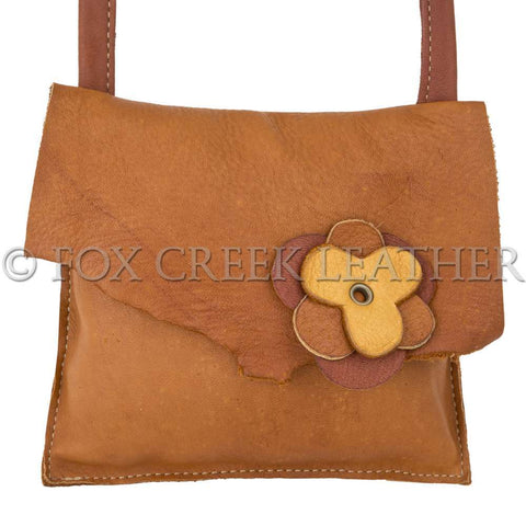 flower leather purse made in usa