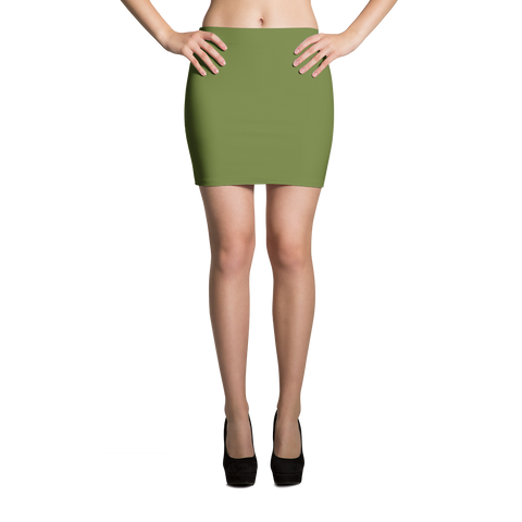 olive mini skirt made in usa