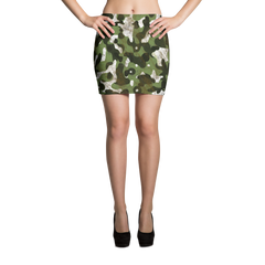 camouflage camo mini skirt made in usa