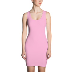 pink bodycon tank dress made in usa