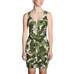 camouflage camo bodycon tank dress made in usa