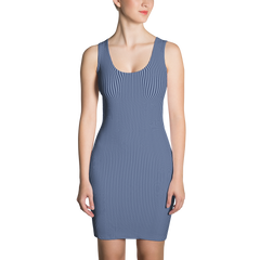 blue pinstripe dress bodycon tank dress made in usa