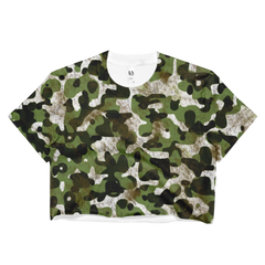 camouflage camo crop top made in usa
