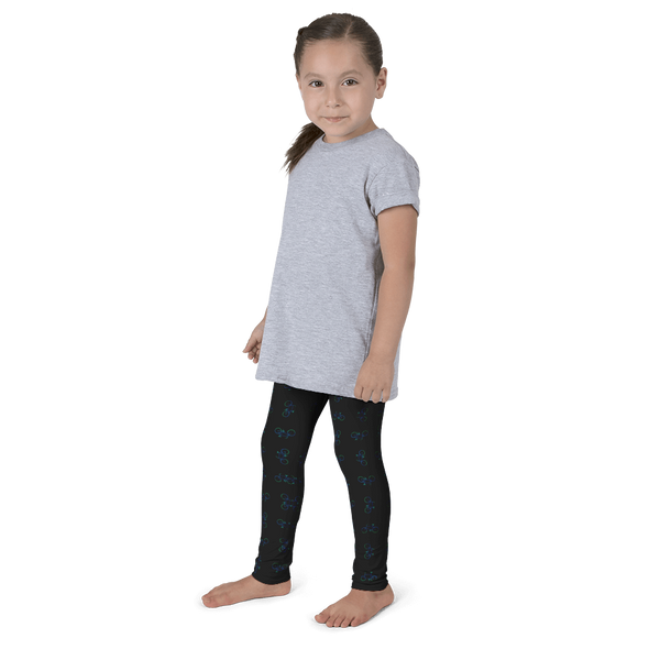 Bicycle Green and Blue Kid's Leggings - Black - Cinnia Boutique