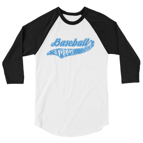 Baseball Mom Raglan Sleeve Shirt - Blue - Cinnia Boutique