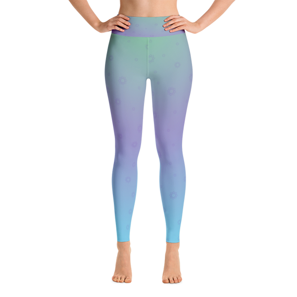 Lotus Flower Yoga Leggings - Cinnia Boutique