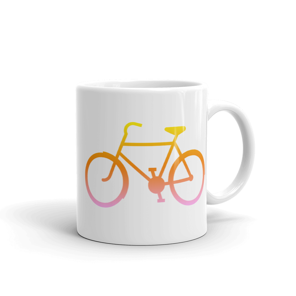 Bicycle Yellow Orange Pink Mug - Cinnia Boutique