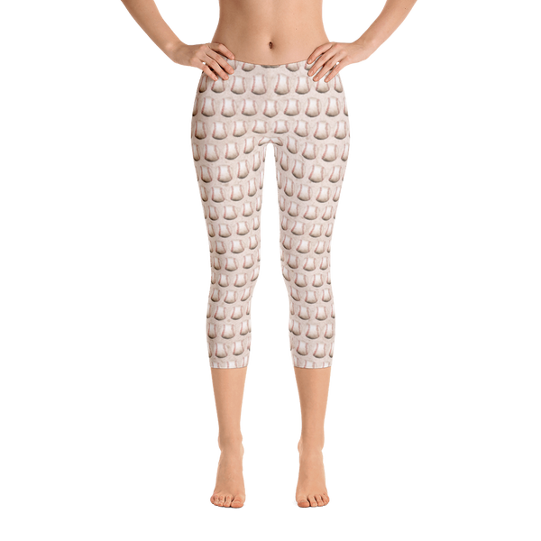 Baseball Scuffed Up Capri Leggings - Cinnia Boutique