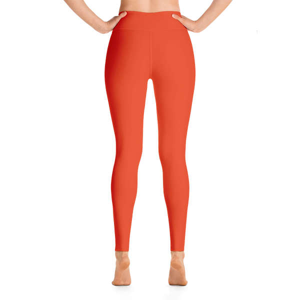 Bright Orange Yoga Leggings - Cinnia Boutique