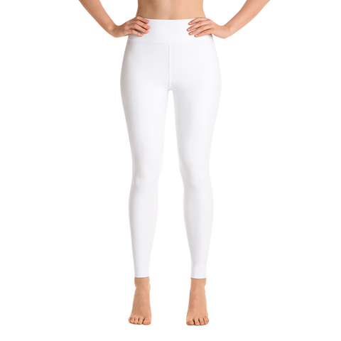 White As Snow Yoga Leggings - Cinnia Boutique