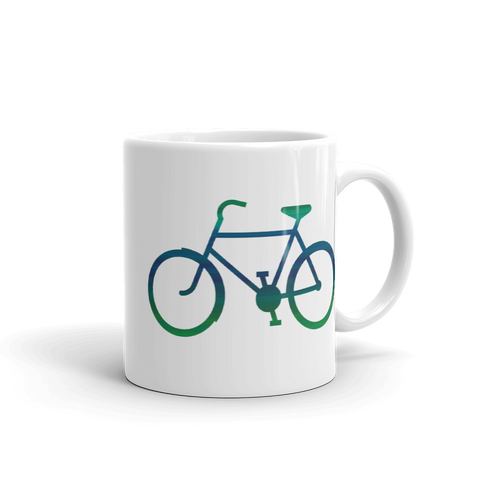 Bicycle Green and Blue Mug - Cinnia Boutique