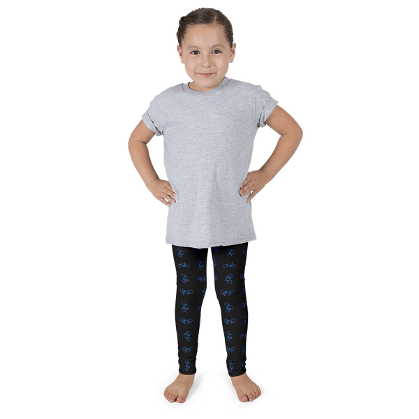Bicycle Purple and Blue Kid's Leggings - Black - Cinnia Boutique