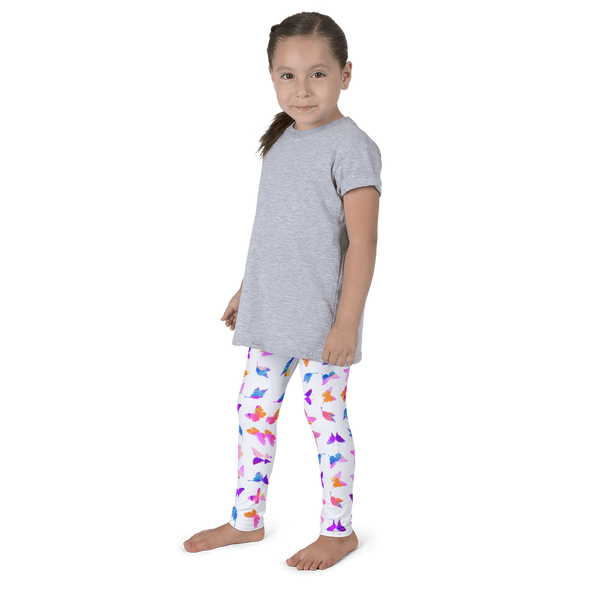 Butterfly Kid's Leggings - White - Cinnia Boutique
