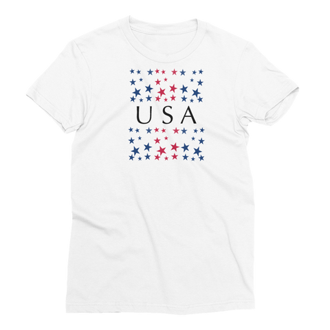 USA Stars Women's Short Sleeve T-Shirt - Cinnia Boutique