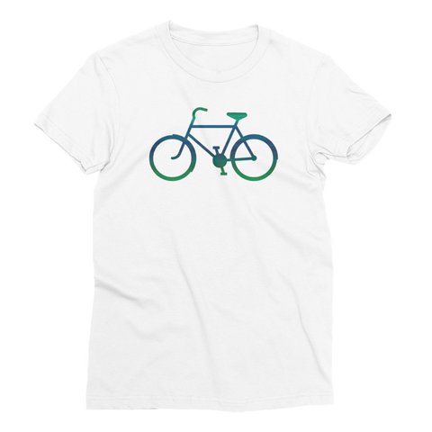 Bicycle Green and Blue Women's Short Sleeve T-Shirt - Cinnia Boutique
