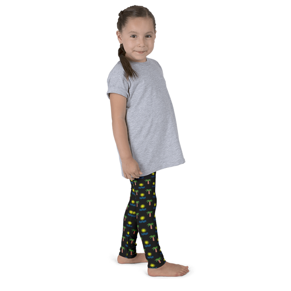 Tropical Kid's Leggings - Black - Cinnia Boutique