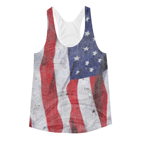 Ripple Flag Women's Racerback Tank - Cinnia Boutique