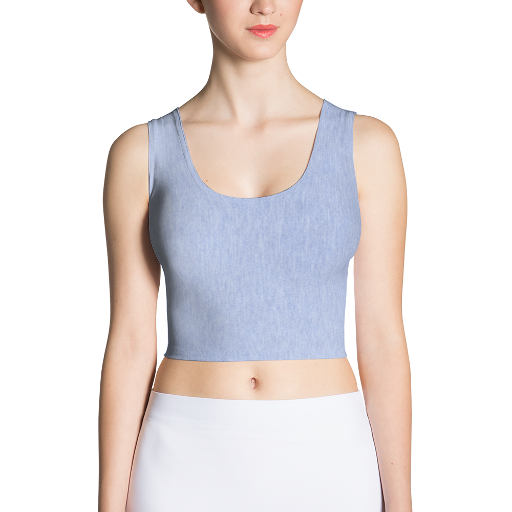 Light Denim Sport Crop Top - Cinnia Boutique