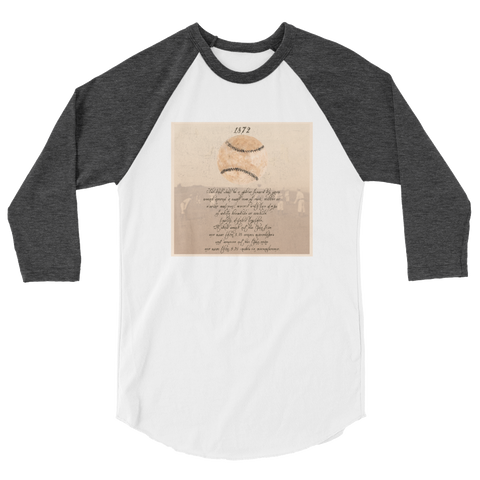1872 Baseball Raglan Sleeve Shirt - Unisex - Cinnia Boutique