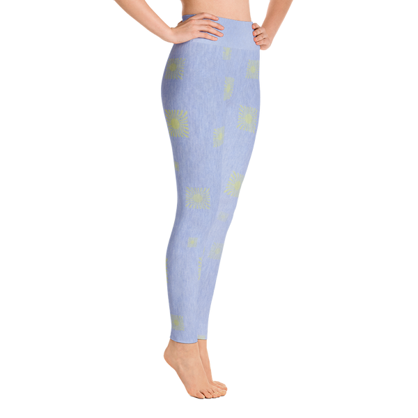 Faded Sun Yoga Leggings - Light Denim - Cinnia Boutique