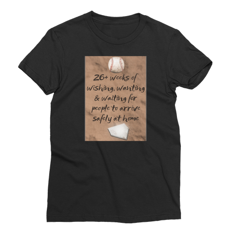 26 Weeks Baseball Women's Short Sleeve T-Shirt - Cinnia Boutique