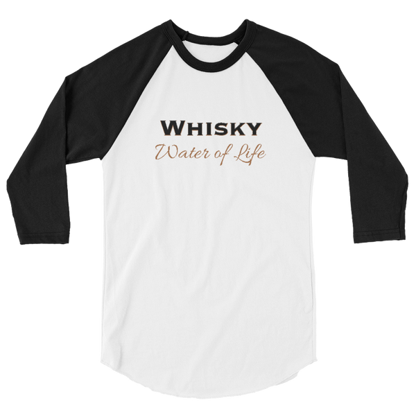 Whisky Water of Life Raglan Sleeve Shirt - Unisex - Cinnia Boutique