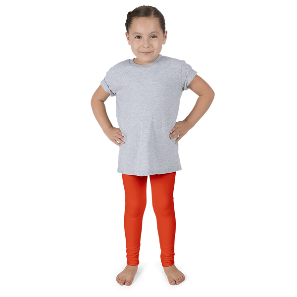 Bright Orange Kid's Leggings - Cinnia Boutique