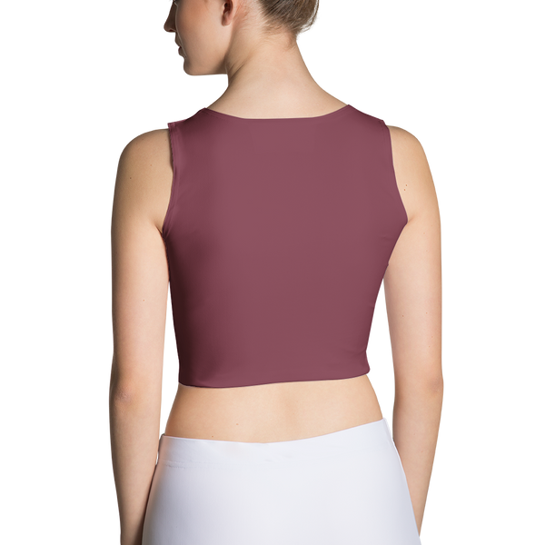 Burgundy Sport Crop Top - Cinnia Boutique