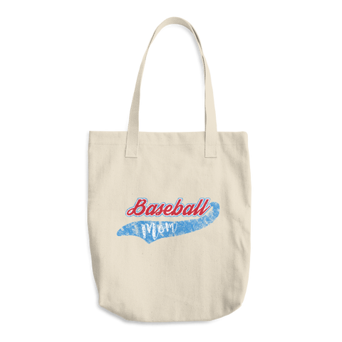Baseball Mom Cotton Tote Bag - Cinnia Boutique