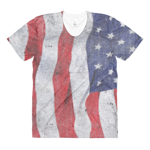 Ripple Flag Women's Crew Neck T-shirt - Cinnia Boutique