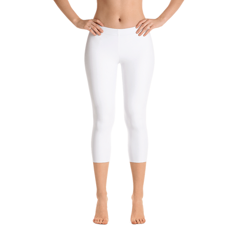 White as Snow Capri Leggings - Cinnia Boutique