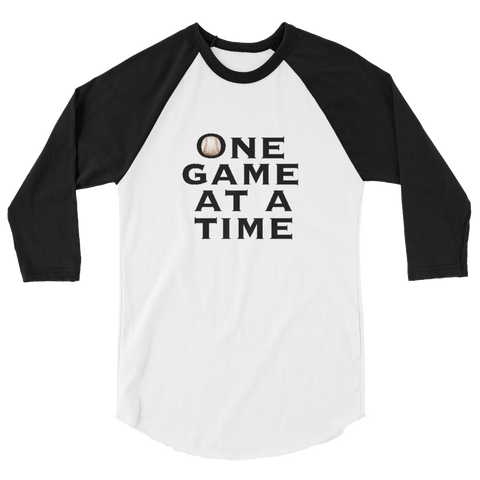 Baseball One Game at a Time Raglan Sleeve Shirt - Unisex - Cinnia Boutique