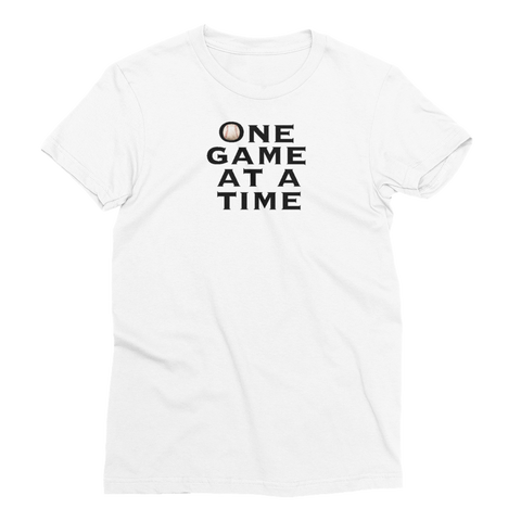 Baseball One Game at a Time Women's Short Sleeve T-Shirt - Cinnia Boutique