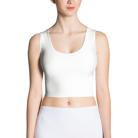 white sport crop top made in the usa cinnia boutique