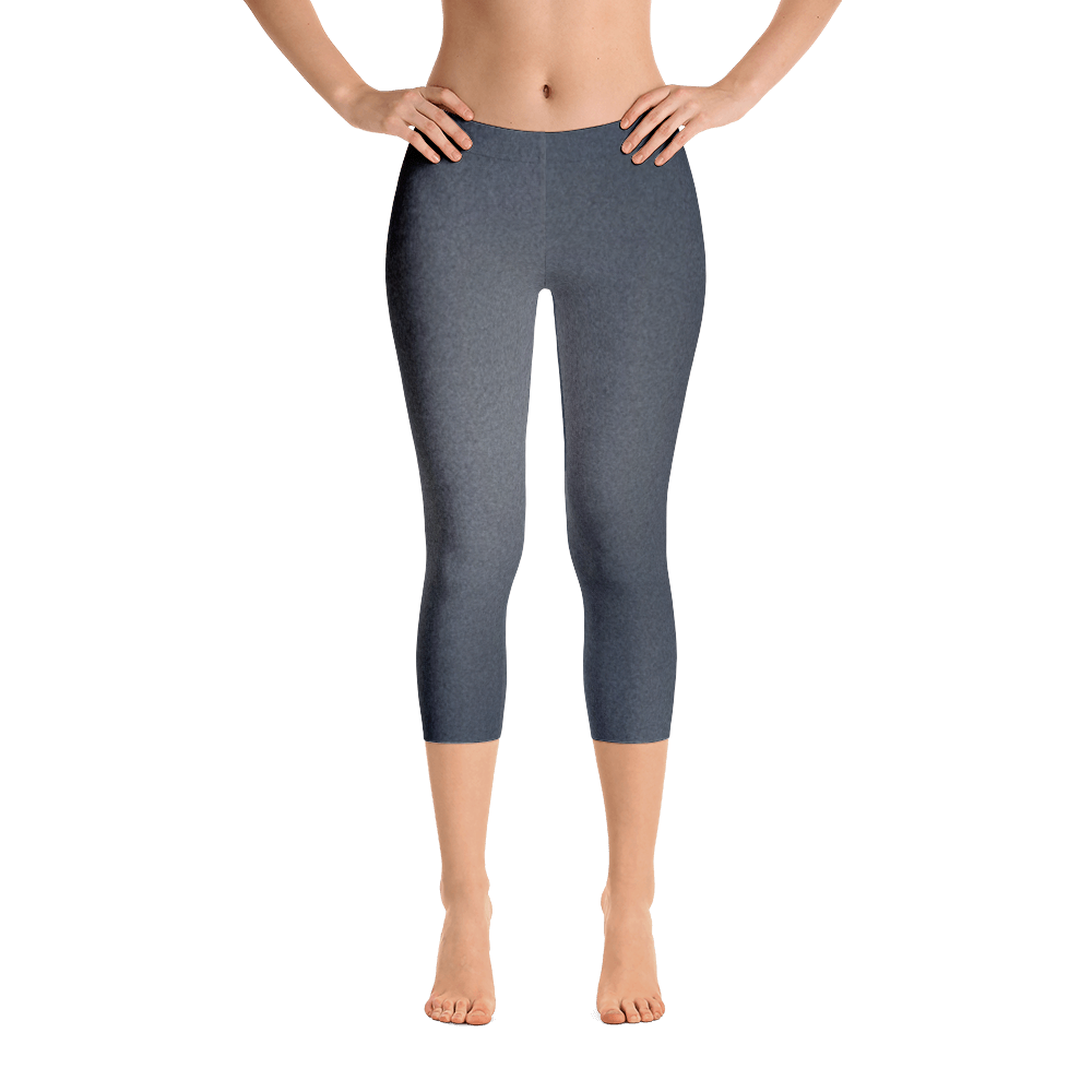 Denim Capri Leggings - Cinnia Boutique