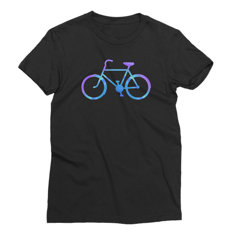 Bicycle Purple and Blue Women's Short Sleeve T-Shirt - Cinnia Boutique