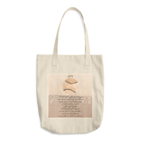 1872 Baseball Cotton Tote Bag - Cinnia Boutique
